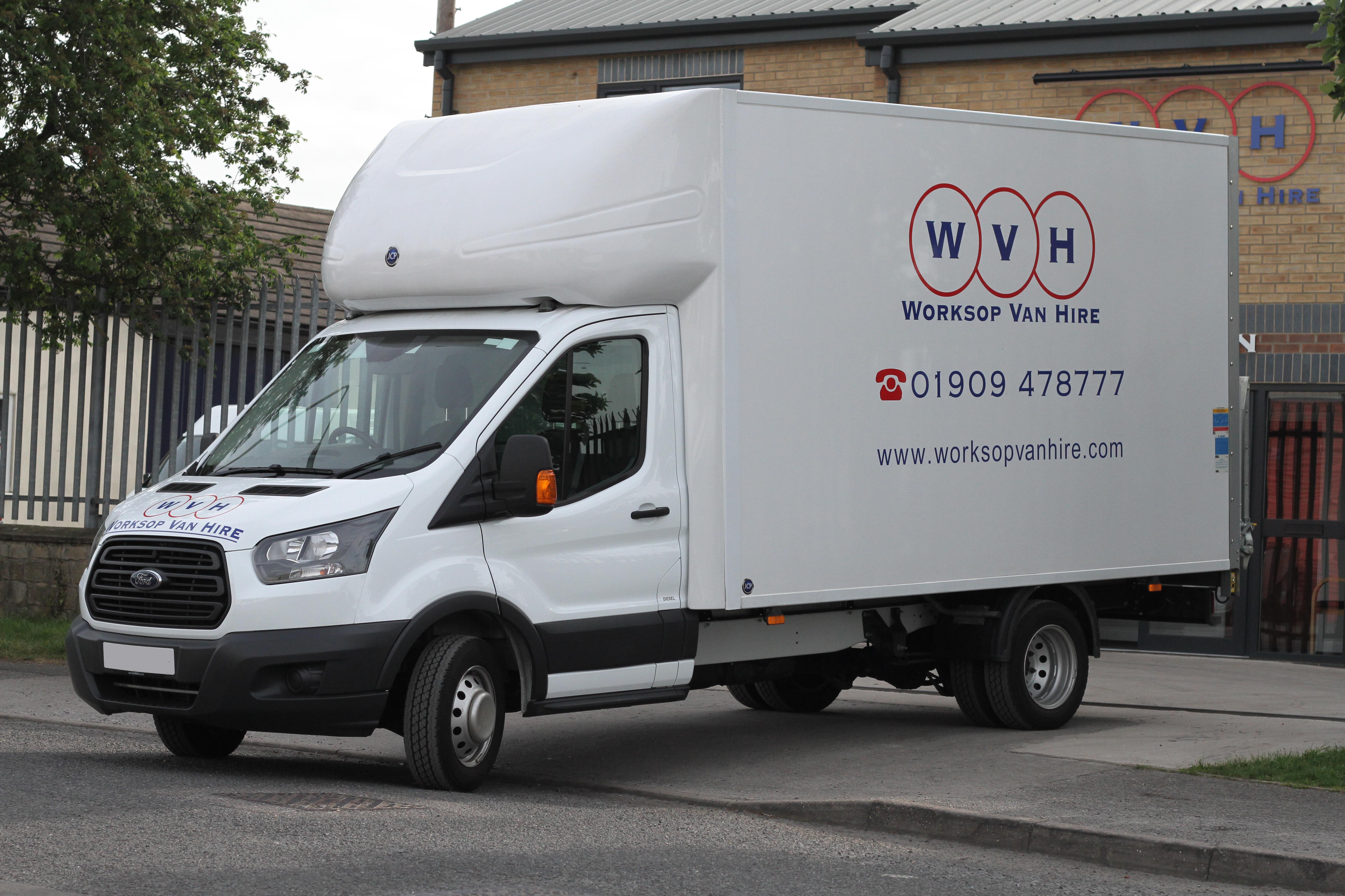 331db9a3cd Worksop Van Hire Luton Boxed Van